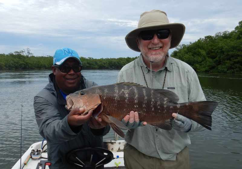 Cubera Snapper on Fly Rod